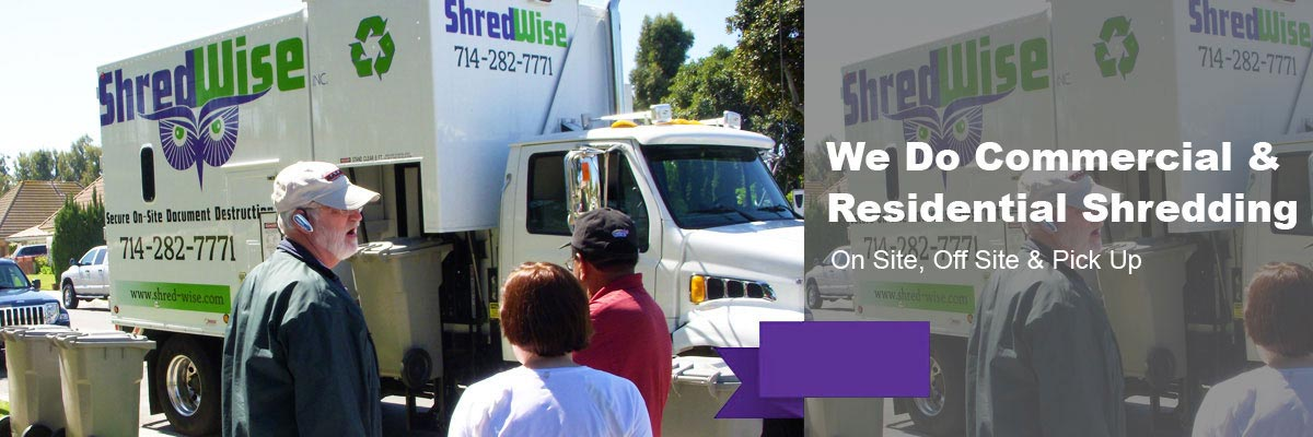 Residential Shredding Service
